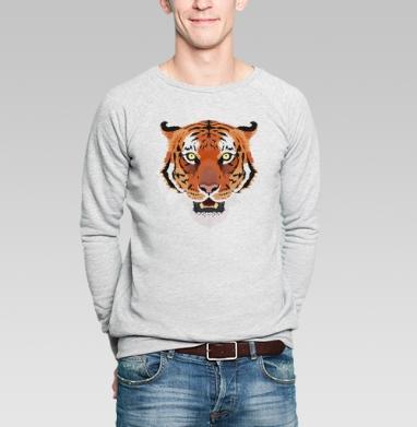 Hunter's eyes - Купить мужские свитшоты с тигром в Москве, цена мужских свитшотов с тиграми  с прикольными принтами - магазин дизайнерской одежды MaryJane