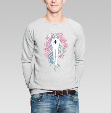 In the void - Купить мужские свитшоты с космосом в Москве, цена мужских свитшотов с космосом  с прикольными принтами - магазин дизайнерской одежды MaryJane