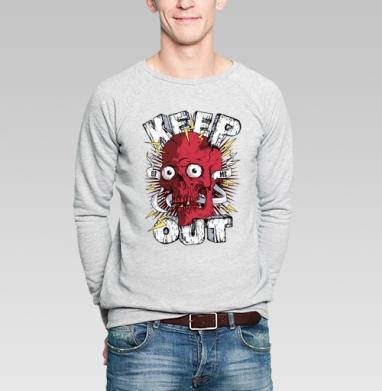 Keep out - Купить мужские свитшоты с черепом в Москве, цена мужских  с черепом  с прикольными принтами - магазин дизайнерской одежды MaryJane