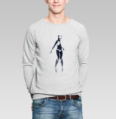 Кибер-панда - Купить мужские свитшоты с роботами в Москве, цена мужских свитшотов с роботами с прикольными принтами - магазин дизайнерской одежды MaryJane