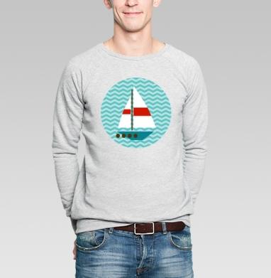 Кораблики - Купить мужские свитшоты Текстуры в Москве, цена мужских свитшотов Текстуры с прикольными принтами - магазин дизайнерской одежды MaryJane