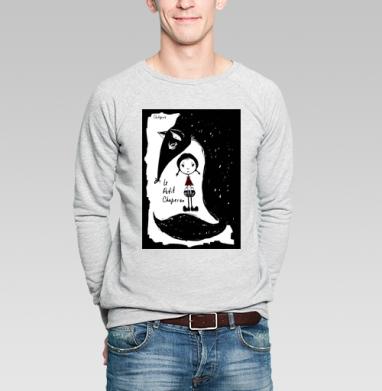 Красная Шапочка (Little Red Riding Hood) - Купить мужские свитшоты со сказками в Москве, цена мужских  со сказками  с прикольными принтами - магазин дизайнерской одежды MaryJane