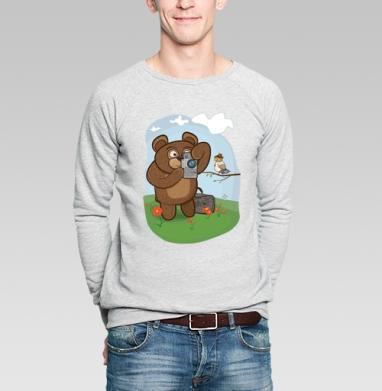 Медведь фотолюбитель  - Купить худи в Москве, толстовки на заказ.