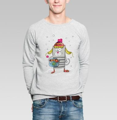 MEOW - Купить мужские свитшоты с рыбой в Москве, цена мужских  с рыбой  с прикольными принтами - магазин дизайнерской одежды MaryJane