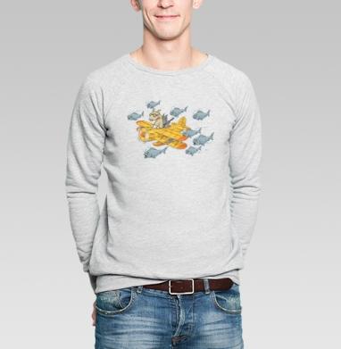 Мэт и Шитцу на охоте - Купить мужские свитшоты с пиратом в Москве, цена мужских свитшотов пиратских с прикольными принтами - магазин дизайнерской одежды MaryJane