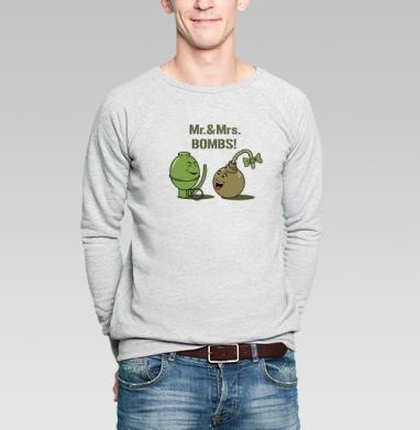 Mr. & Mrs. BOMBS! - Купить мужские свитшоты секс в Москве, цена мужских свитшотов секс  с прикольными принтами - магазин дизайнерской одежды MaryJane