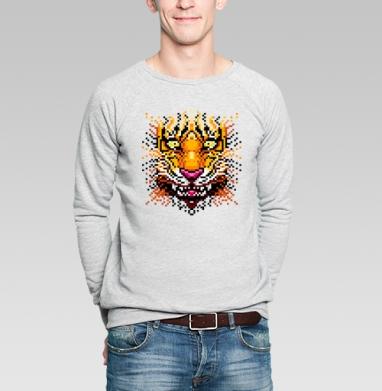 Myau! - Купить мужские свитшоты с тигром в Москве, цена мужских свитшотов с тиграми  с прикольными принтами - магазин дизайнерской одежды MaryJane
