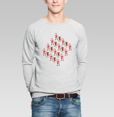 Олени и гномики - Купить мужские свитшоты с людьми в Москве, цена мужских  с людьми  с прикольными принтами - магазин дизайнерской одежды MaryJane