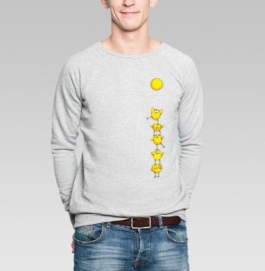 Почти яичница:) - Купить мужские свитшоты с солнцем в Москве, цена мужских свитшотов с солнцем  с прикольными принтами - магазин дизайнерской одежды MaryJane