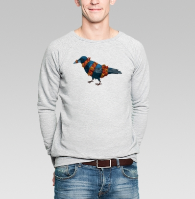 Рыбная ворона - Купить мужские свитшоты с рыбой в Москве, цена мужских  с рыбой  с прикольными принтами - магазин дизайнерской одежды MaryJane
