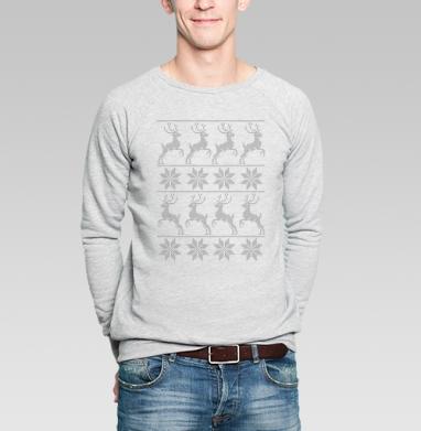 Скандинавский узор с оленями - Купить мужские свитшоты паттерн в Москве, цена мужских  с паттерном  с прикольными принтами - магазин дизайнерской одежды MaryJane