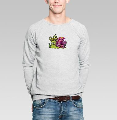 Snail Male - Купить мужские свитшоты с насекомыми в Москве, цена мужских  с насекомыми  с прикольными принтами - магазин дизайнерской одежды MaryJane