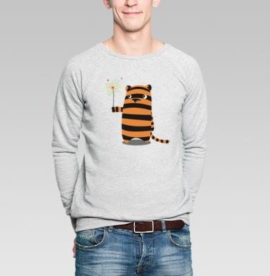 Тигро - Купить мужские свитшоты с тигром в Москве, цена мужских свитшотов с тиграми  с прикольными принтами - магазин дизайнерской одежды MaryJane