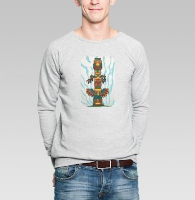 Тотем - Купить мужские свитшоты с индейцами в Москве, цена мужских  с индейцами  с прикольными принтами - магазин дизайнерской одежды MaryJane