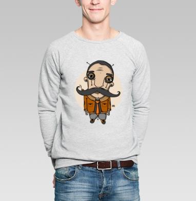 Усач2 - Купить мужские свитшоты с усами в Москве, цена мужских свитшотов с усами  с прикольными принтами - магазин дизайнерской одежды MaryJane