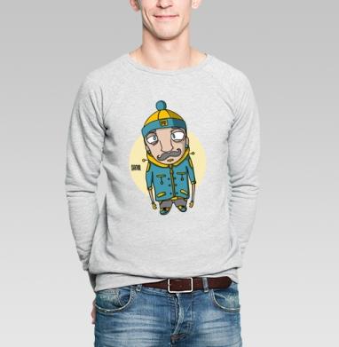 Усaч - Купить мужские свитшоты с усами в Москве, цена мужских свитшотов с усами с прикольными принтами - магазин дизайнерской одежды MaryJane