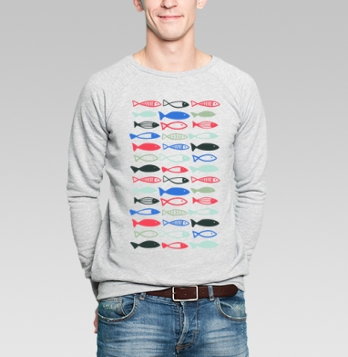 Веселые рыбехи - Купить мужские свитшоты с летом в Москве, цена мужских  с летом  с прикольными принтами - магазин дизайнерской одежды MaryJane