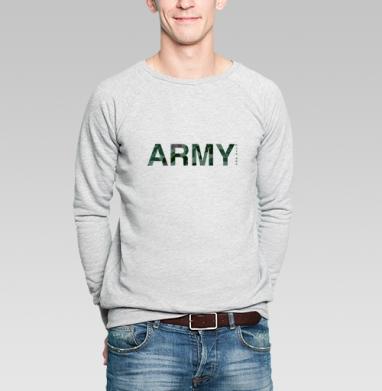 Веселый камуфляж - Свитшот мужской серый-меланж  320гр, стандарт, мужские, Популярные