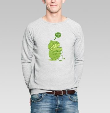 Vitamin c - Купить мужские свитшоты с фруктами в Москве, цена мужских свитшотов с фруктами  с прикольными принтами - магазин дизайнерской одежды MaryJane