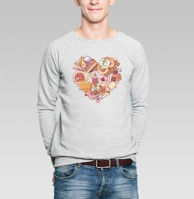 Вкусняшки - Купить мужские свитшоты сладости в Москве, цена мужских свитшотов со сладостями  с прикольными принтами - магазин дизайнерской одежды MaryJane