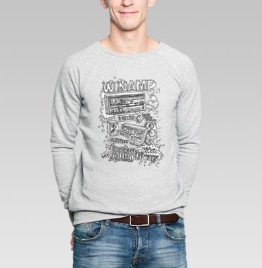 Winamp - Купить мужские свитшоты с программистом в Москве, цена мужских свитшотов с программистом с прикольными принтами - магазин дизайнерской одежды MaryJane