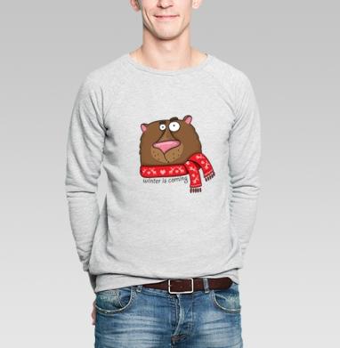 Winter is coming - Купить мужские свитшоты Новый год в Москве, цена мужских  новогодних  с прикольными принтами - магазин дизайнерской одежды MaryJane