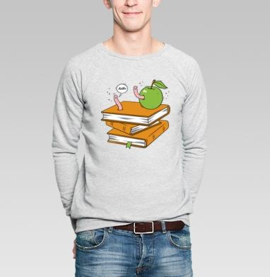 Worms - Купить мужские свитшоты с фруктами в Москве, цена мужских свитшотов с фруктами  с прикольными принтами - магазин дизайнерской одежды MaryJane