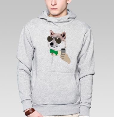 Селфи в очках - Толстовка с койотом