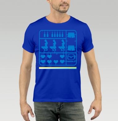 Футболка мужская синяя - MAZDA_LIFE