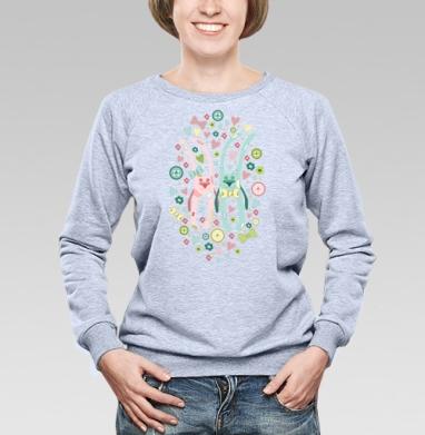 Влюбленные кролики - Купить детские свитшоты паттерн в Москве, цена детских свитшотов с паттерном  с прикольными принтами - магазин дизайнерской одежды MaryJane