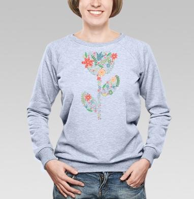 Веяние весны  - Купить детские свитшоты паттерн в Москве, цена детских свитшотов с паттерном  с прикольными принтами - магазин дизайнерской одежды MaryJane