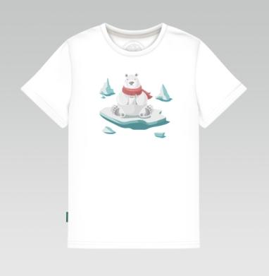 Детская футболка белая - Полярный завтрак