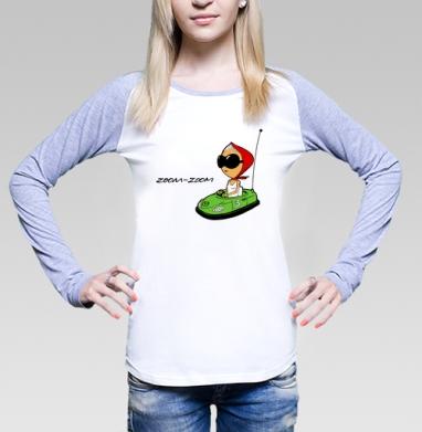 mazda_girl, Футболка женская с длинным рукавом бело-серая