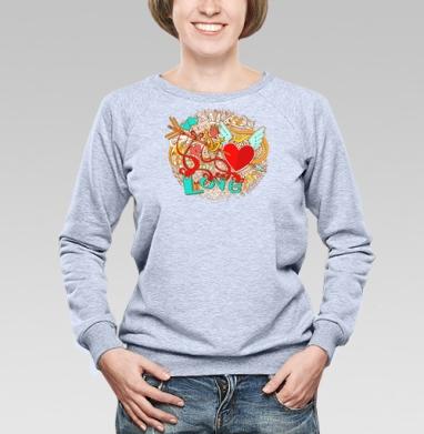 Любовь - Купить детские свитшоты с крыльями в Москве, цена детских свитшотов с крыльями с прикольными принтами - магазин дизайнерской одежды MaryJane