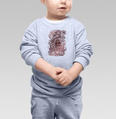 Ворон в хрустальной клетке - Купить детские свитшоты с фруктами в Москве, цена детских свитшотов с фруктами  с прикольными принтами - магазин дизайнерской одежды MaryJane