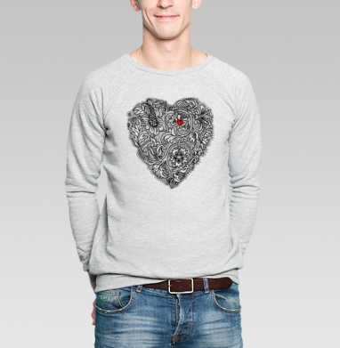 Два сердца вместе - Купить мужские свитшоты винтажные в Москве, цена мужских свитшотов винтажных  с прикольными принтами - магазин дизайнерской одежды MaryJane