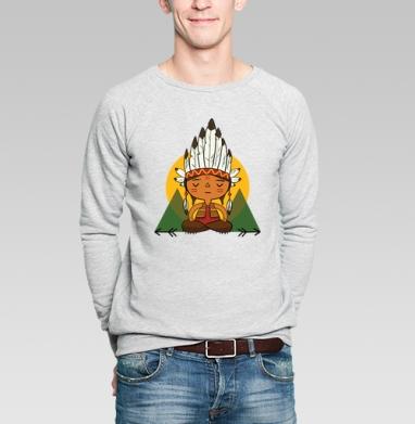 Рэдскин - Купить мужские свитшоты с индейцами в Москве, цена мужских свитшотов с индейцами  с прикольными принтами - магазин дизайнерской одежды MaryJane