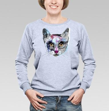Кошка графика - Купить детские свитшоты с персонажами в Москве, цена детских свитшотов с персонажами  с прикольными принтами - магазин дизайнерской одежды MaryJane