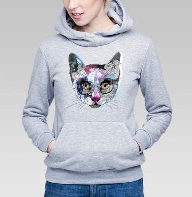 Кошка графика - Купить детские толстовки с персонажами в Москве, цена детских толстовок с персонажами  с прикольными принтами - магазин дизайнерской одежды MaryJane