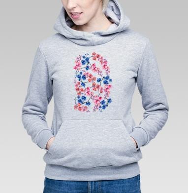 Орхидеи  - Купить детские толстовки паттерн в Москве, цена детских толстовок с паттерном  с прикольными принтами - магазин дизайнерской одежды MaryJane