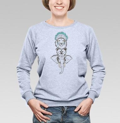 Тотемные животные - Купить детские свитшоты этно в Москве, цена детских свитшотов этно  с прикольными принтами - магазин дизайнерской одежды MaryJane