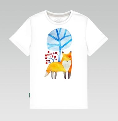 Детская футболка белая 160гр - Пока, зима!