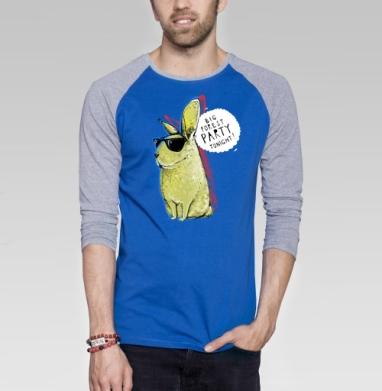 Кроль - Футболка мужская с длинным рукавом синий / серый меланж, персонажи, Популярные