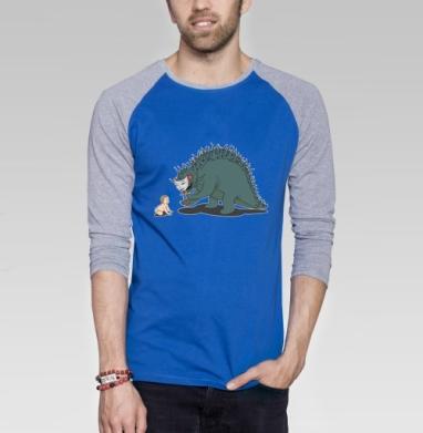 Лицемерие - Футболка мужская с длинным рукавом синий / серый меланж, сладости, Популярные