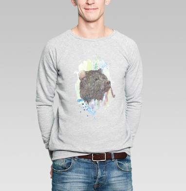 Медвед - Купить мужские свитшоты с летом в Москве, цена мужских  с летом  с прикольными принтами - магазин дизайнерской одежды MaryJane
