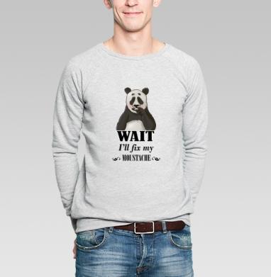 Усатая панда - Купить мужские свитшоты с усами в Москве, цена мужских свитшотов с усами с прикольными принтами - магазин дизайнерской одежды MaryJane