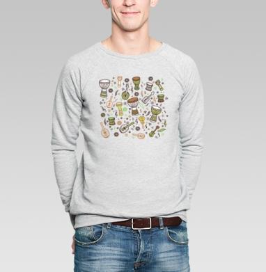 Укулеле-мания - Купить мужские свитшоты Текстуры в Москве, цена мужских свитшотов Текстуры с прикольными принтами - магазин дизайнерской одежды MaryJane
