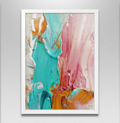 Импасто - Постер в белой раме, живопись