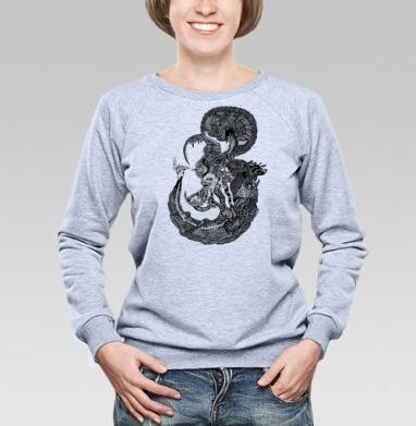 Морской Мыслитель - Купить детские свитшоты паттерн в Москве, цена детских свитшотов с паттерном  с прикольными принтами - магазин дизайнерской одежды MaryJane