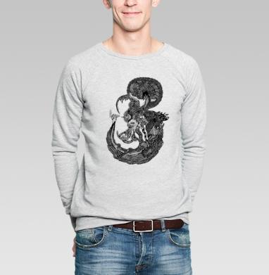 Морской Мыслитель - Купить мужские свитшоты с рыбой в Москве, цена мужских свитшотов с рыбой  с прикольными принтами - магазин дизайнерской одежды MaryJane